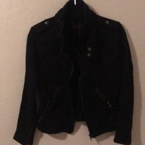 Black cotton moto jacket
